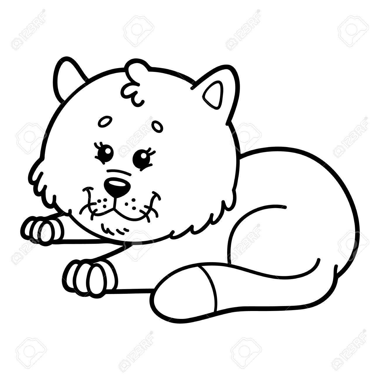 Süße Katze. Illustration Von Niedlichen Comic-Katze Charakter Für ...