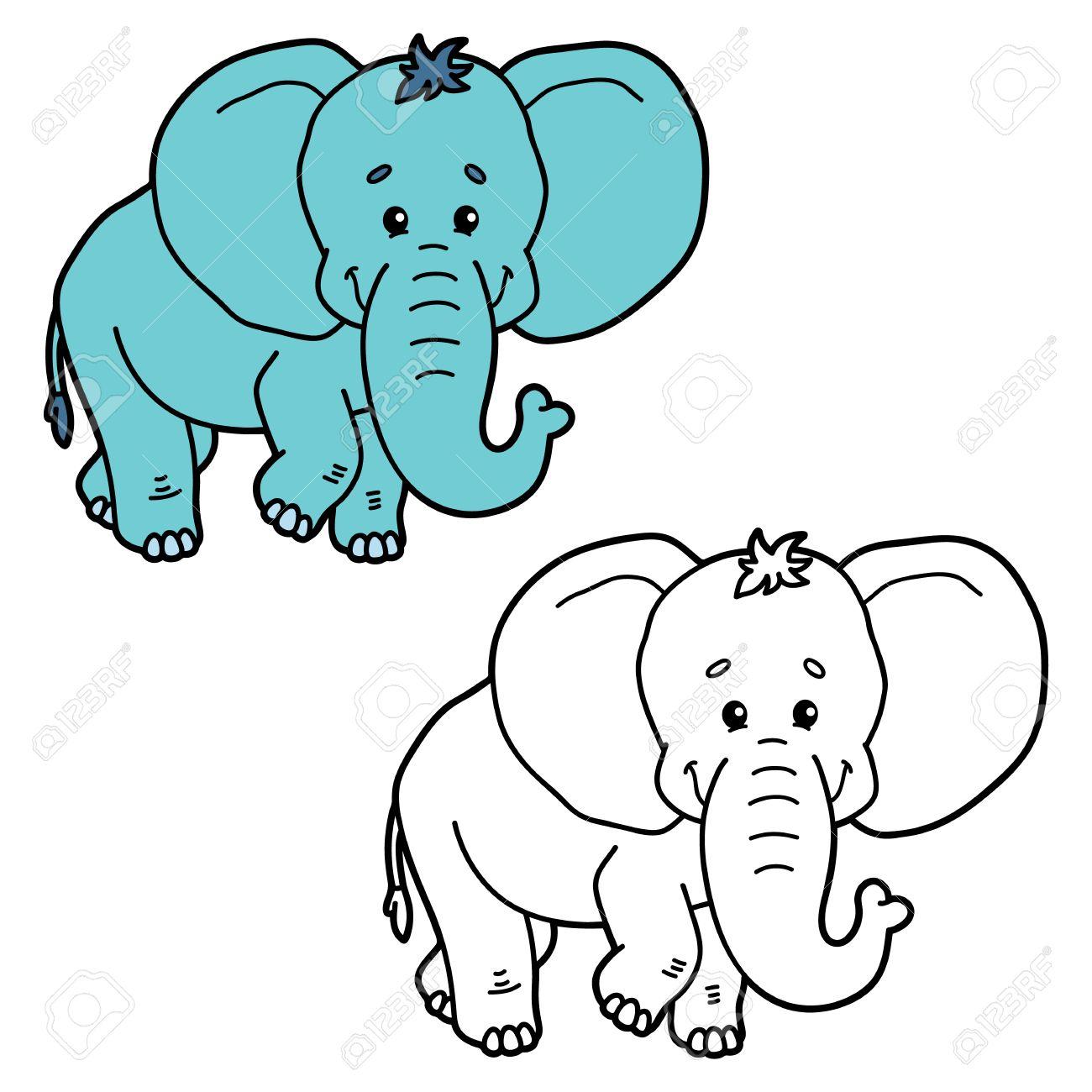 Lustiger Elefant Abbildung Malvorlagen Von Elefant Glucklich