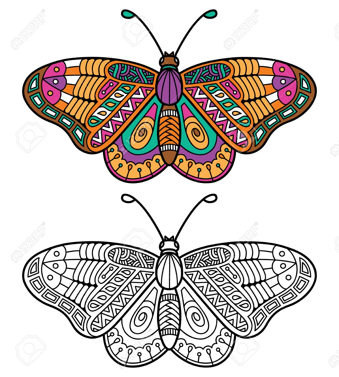 Uncategorized Images Of Butterflies For Children cute butterfly vector illustration of ornate zentangle for children or adult anti