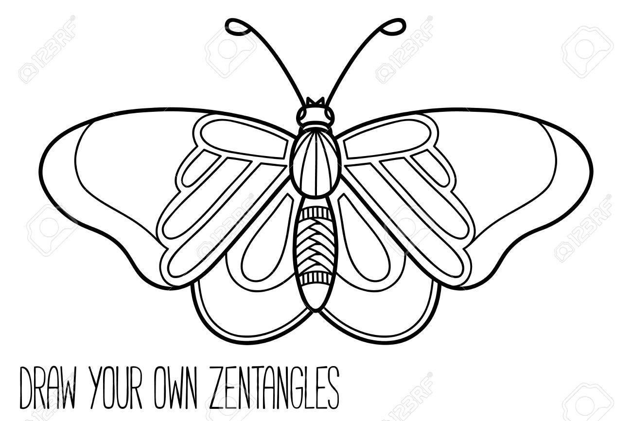 かわいい蝶の子供はまたは抗ストレス塗り絵大人かわいい華やかな蝶の