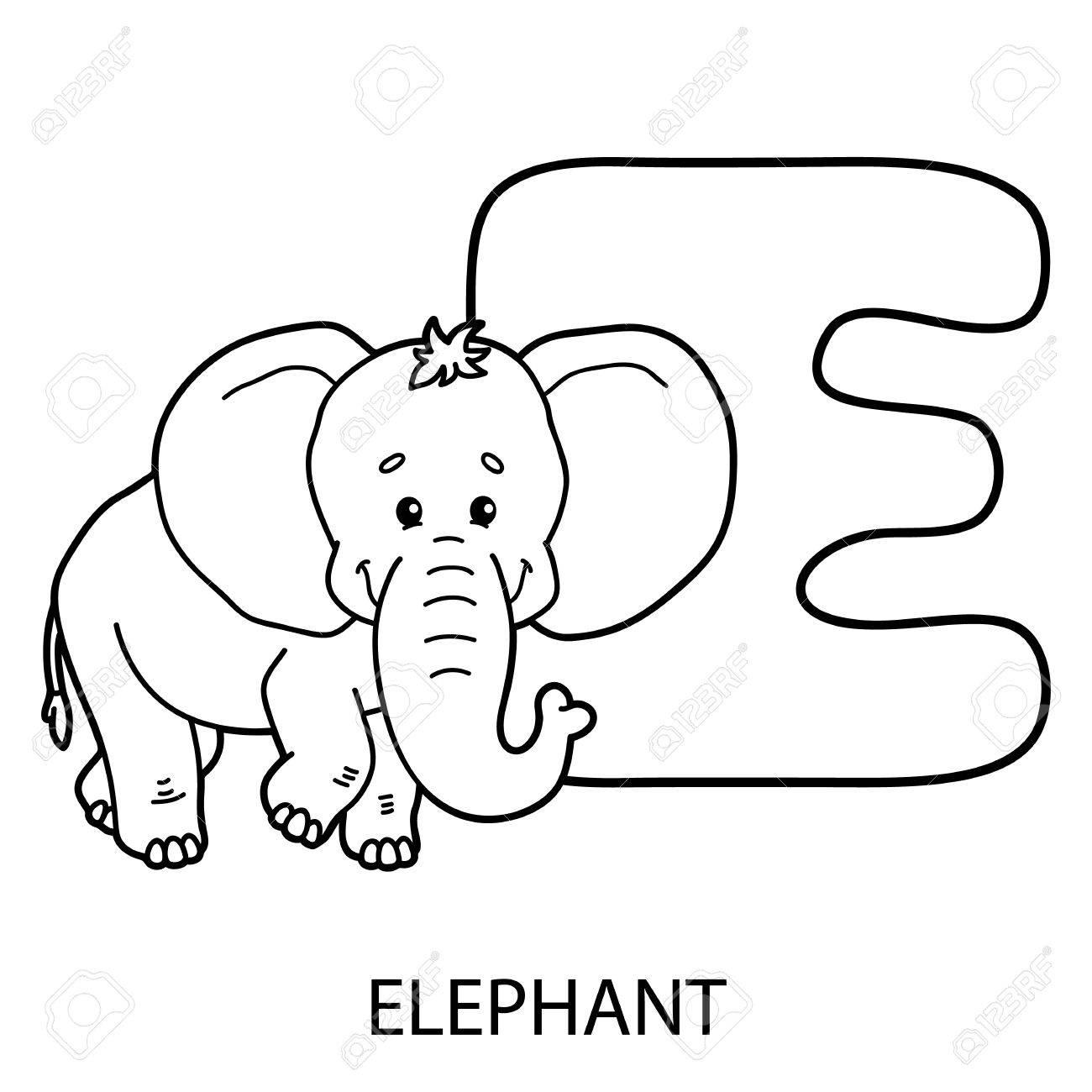 Colorear Alfabeto Animal Vector La Ilustración De La Página Educativa Alfabeto Para Colorear Con Animales De Dibujos Animados Para Los Niños