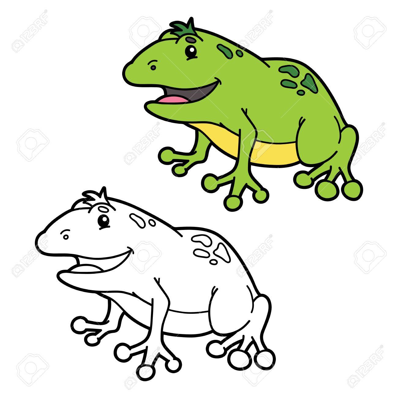 Lustiger Frosch Malvorlagen. Abbildung Malvorlagen Mit Glücklichen ...