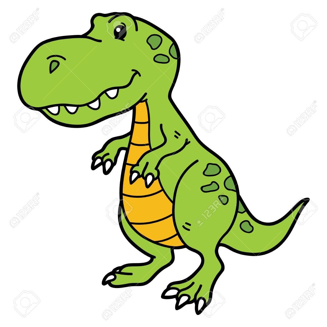 ベクトル子供およびスクラップのための恐竜のかわいい漫画のキャラクター