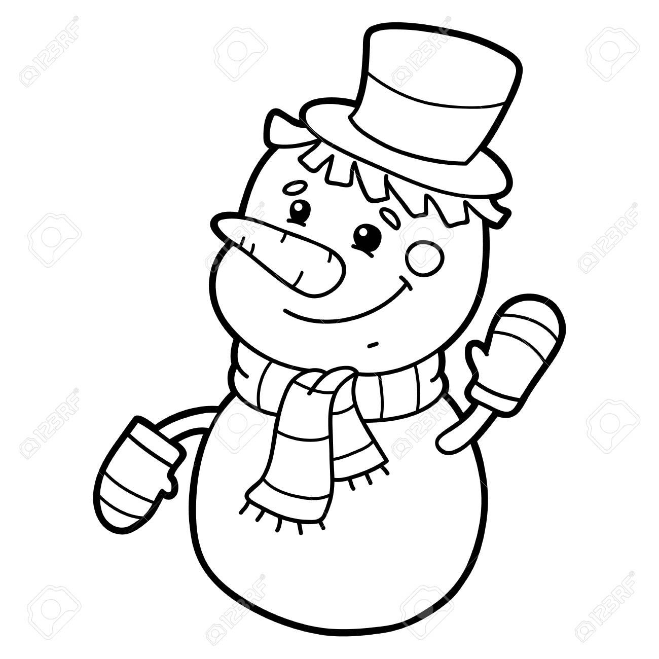 Personaje De Dibujos Animados Lindo Muñeco De Nieve Para Niños ...