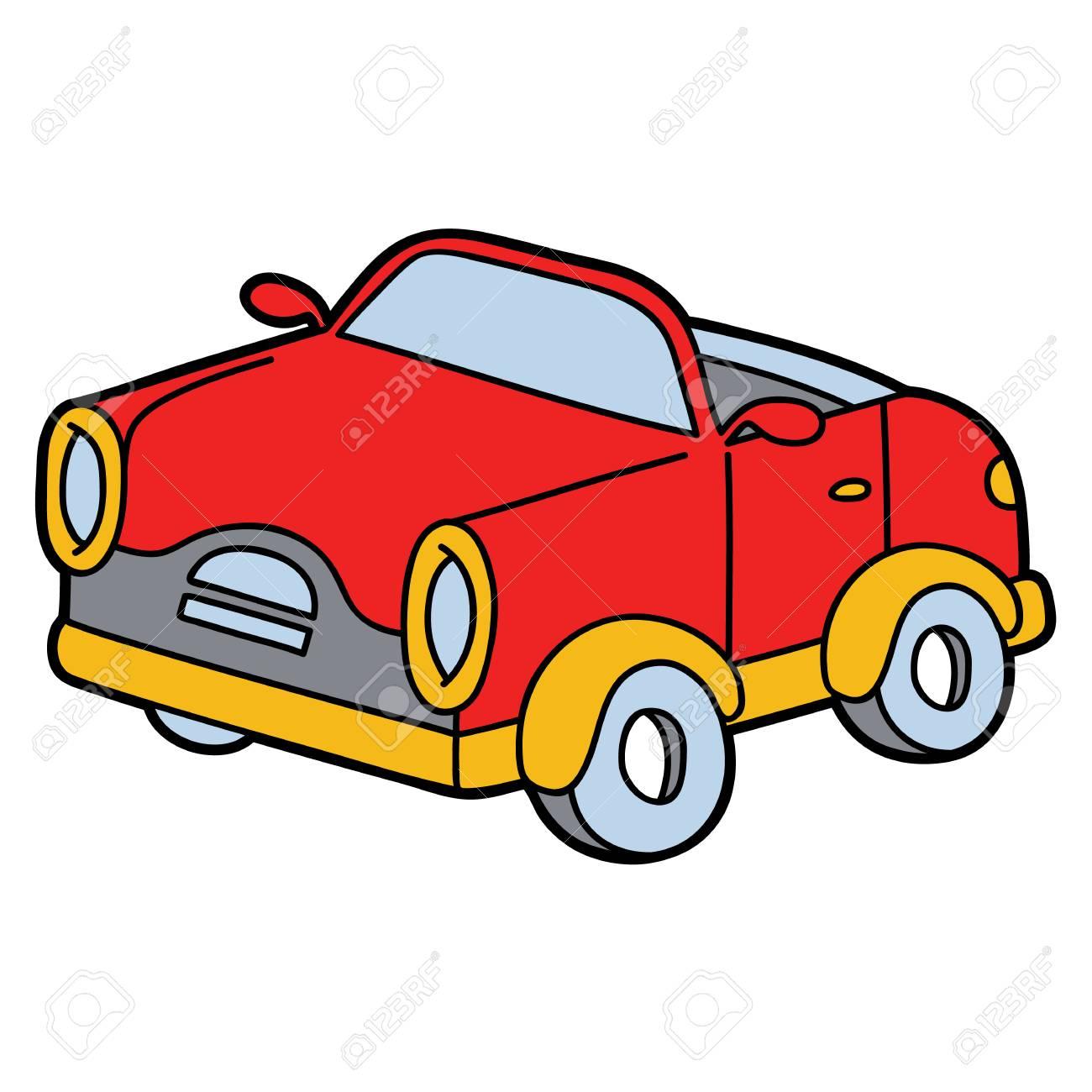 かわいい車漫画のイラストのイラスト素材ベクタ Image 88091767