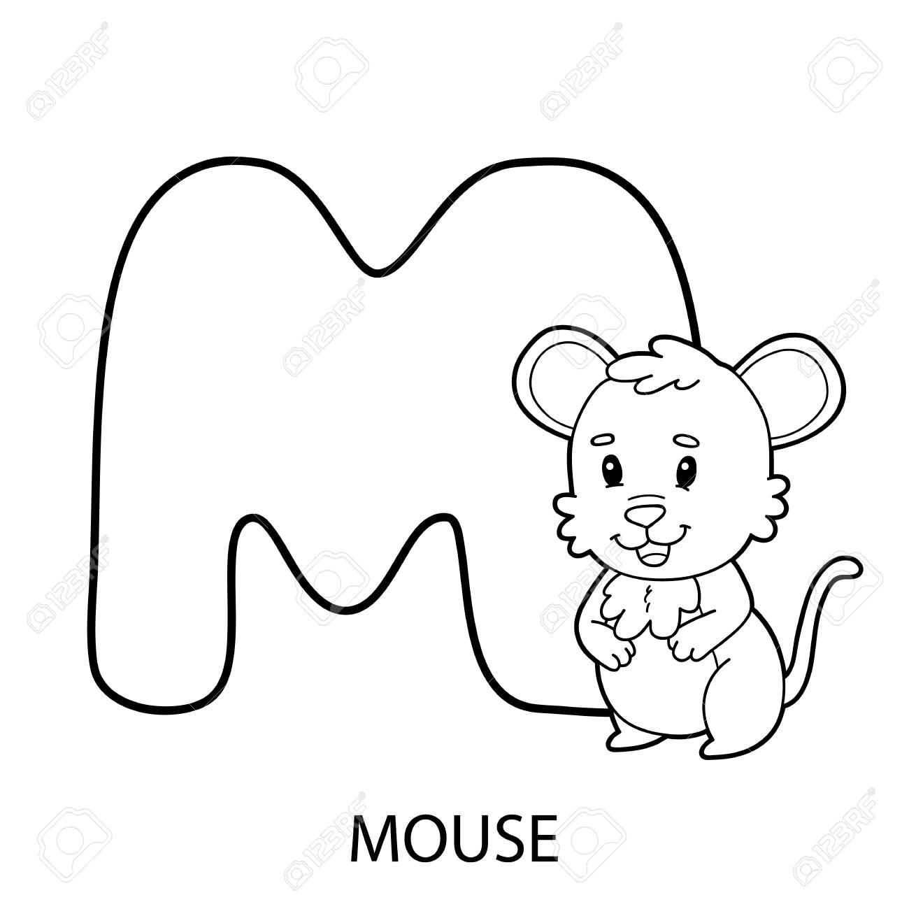 Pagina Para Colorear Alfabeto Ilustracion De Vector De Personaje