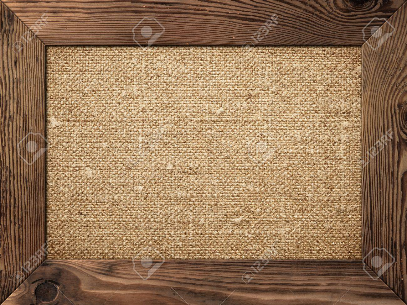 Old wooden frame with cotton canvas inside Stock Photo - 17815442 1040241341895