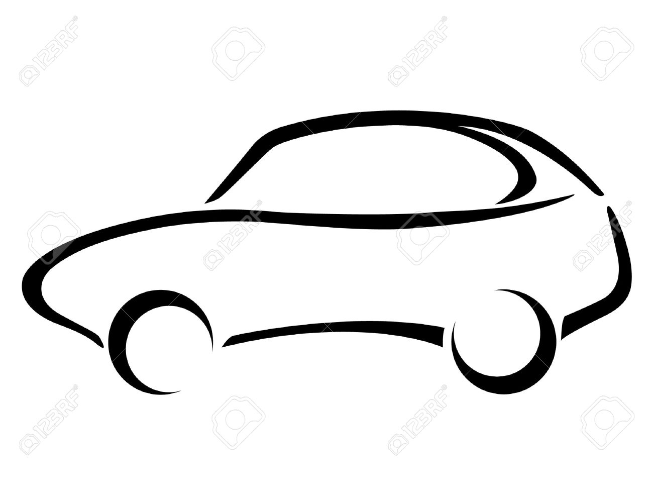 car silhouette on a white background royalty free cliparts