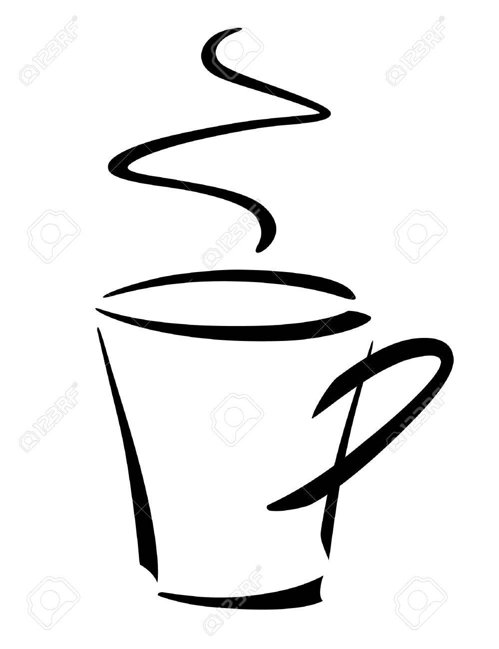 Coffee cup sketch - The Illustration Is Made On The Sketch Stock Vector 4930417