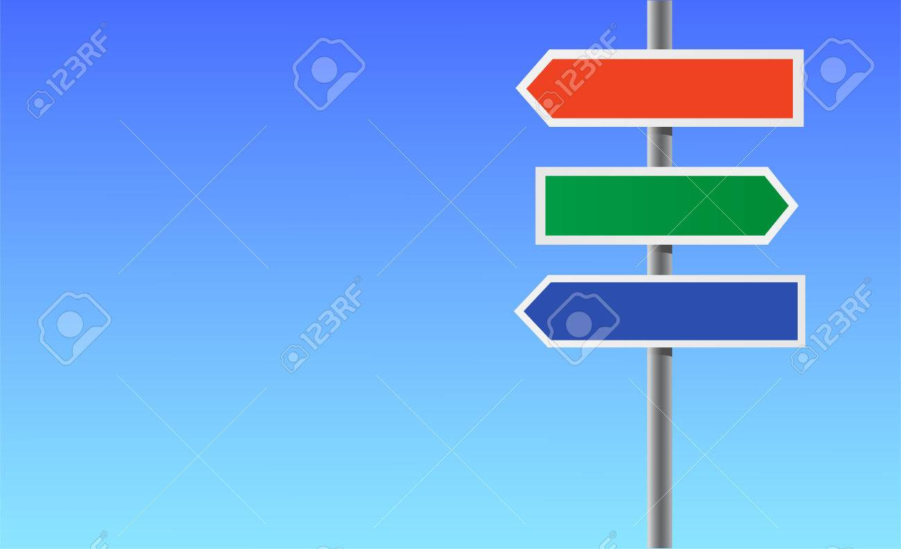colour blank directional sign stock vector 7341812 - Blank Pictures To Colour