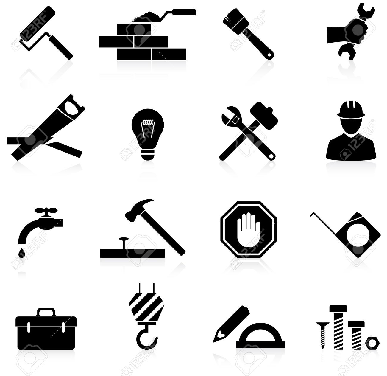 Construction Icons Stock Photos & Pictures. Royalty Free ...