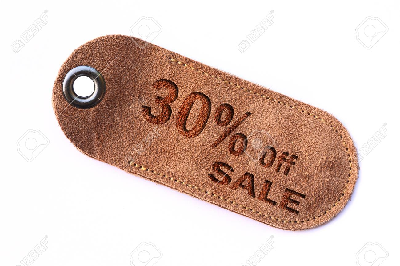 leather sale sign set Stock Photo - 11385548
