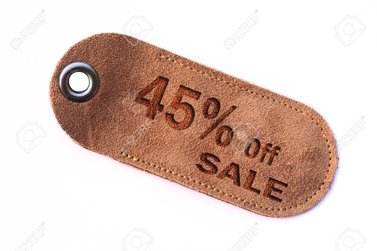 leather sale sign set Stock Photo - 11385544