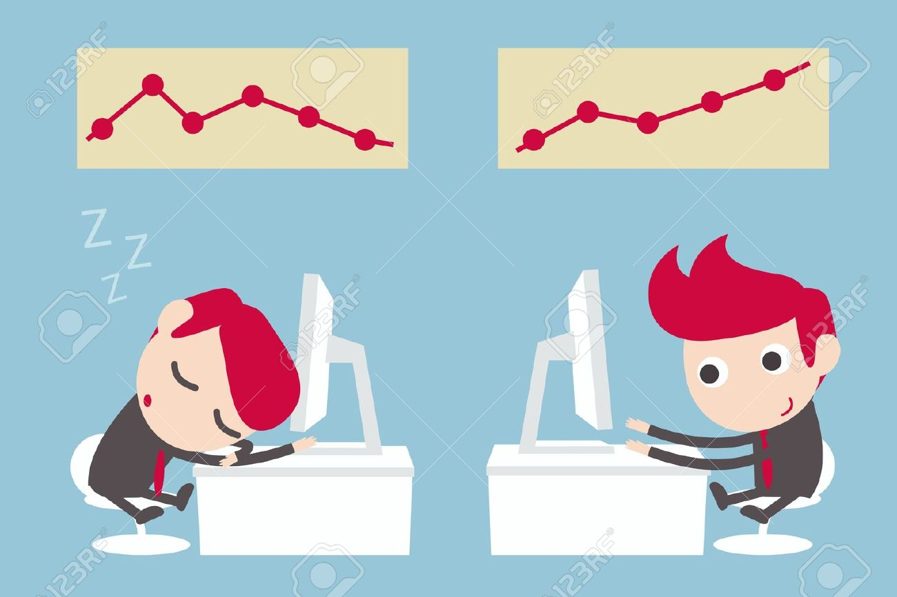 lazy and hard working businessman royalty cliparts vectors vector lazy and hard working businessman