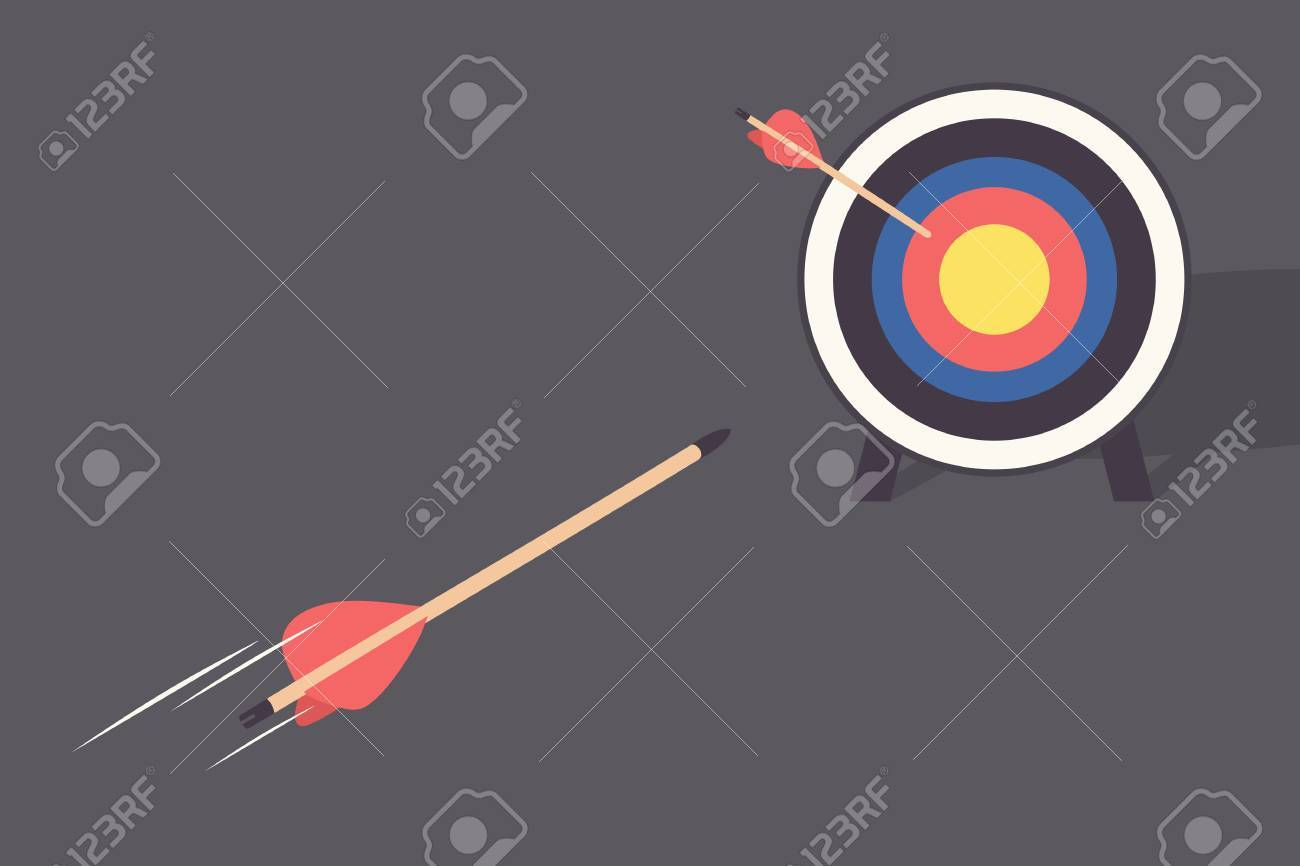 arrow and target Stock Vector - 18684530