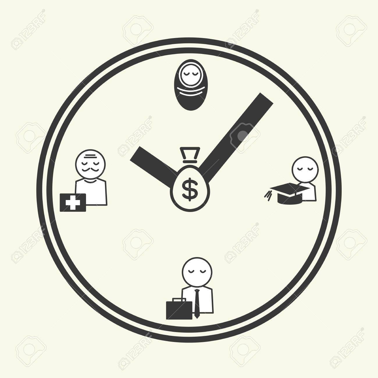 time of life, icon design vector Stock Vector - 20980879