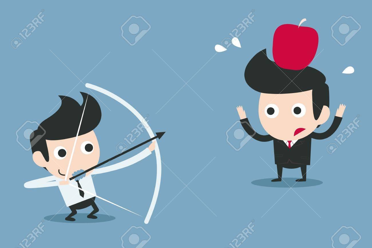 risk, business partner concept vector cartoon Stock Vector - 20980909