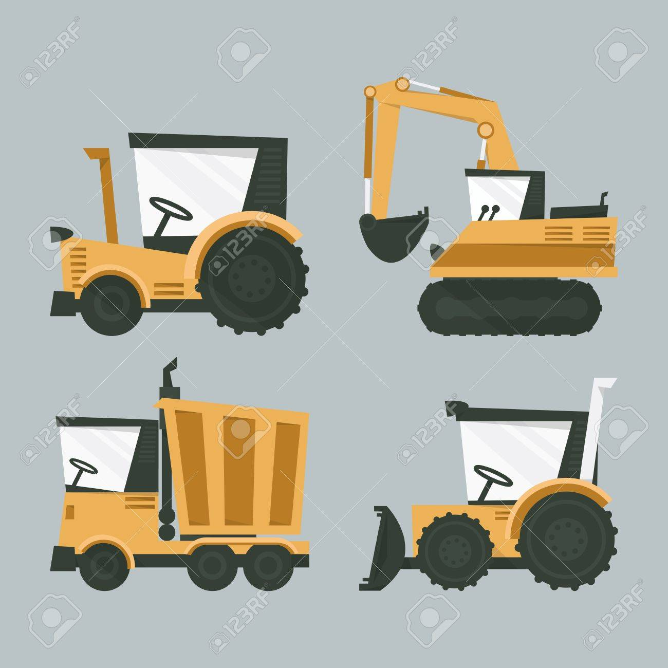 industrial machines, vector Stock Vector - 21905145