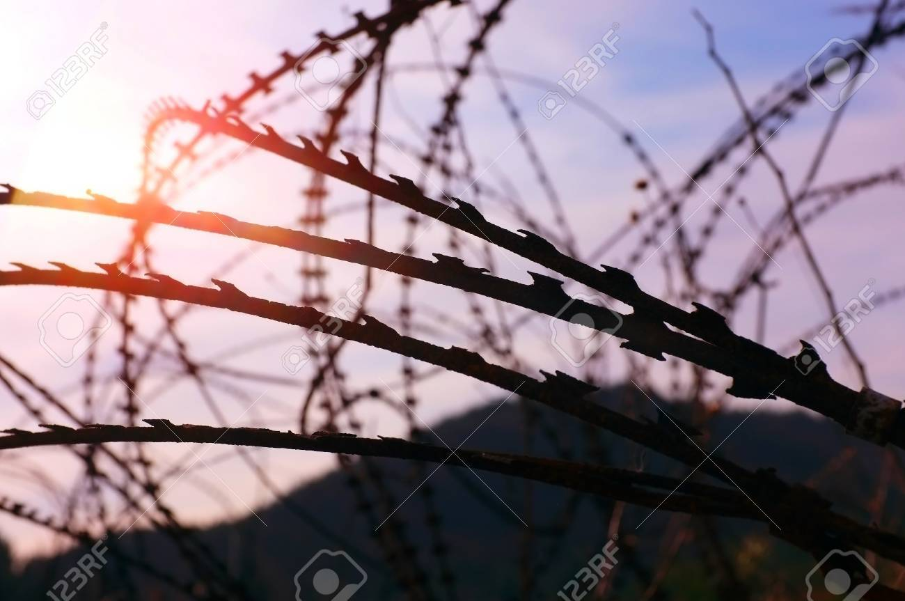Military Razor Wire Stock Photo, Picture And Royalty Free Image ...