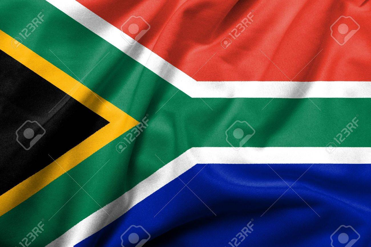 Realistic 3D flag of South Africa with satin fabric texture. Stock Photo - 6619748