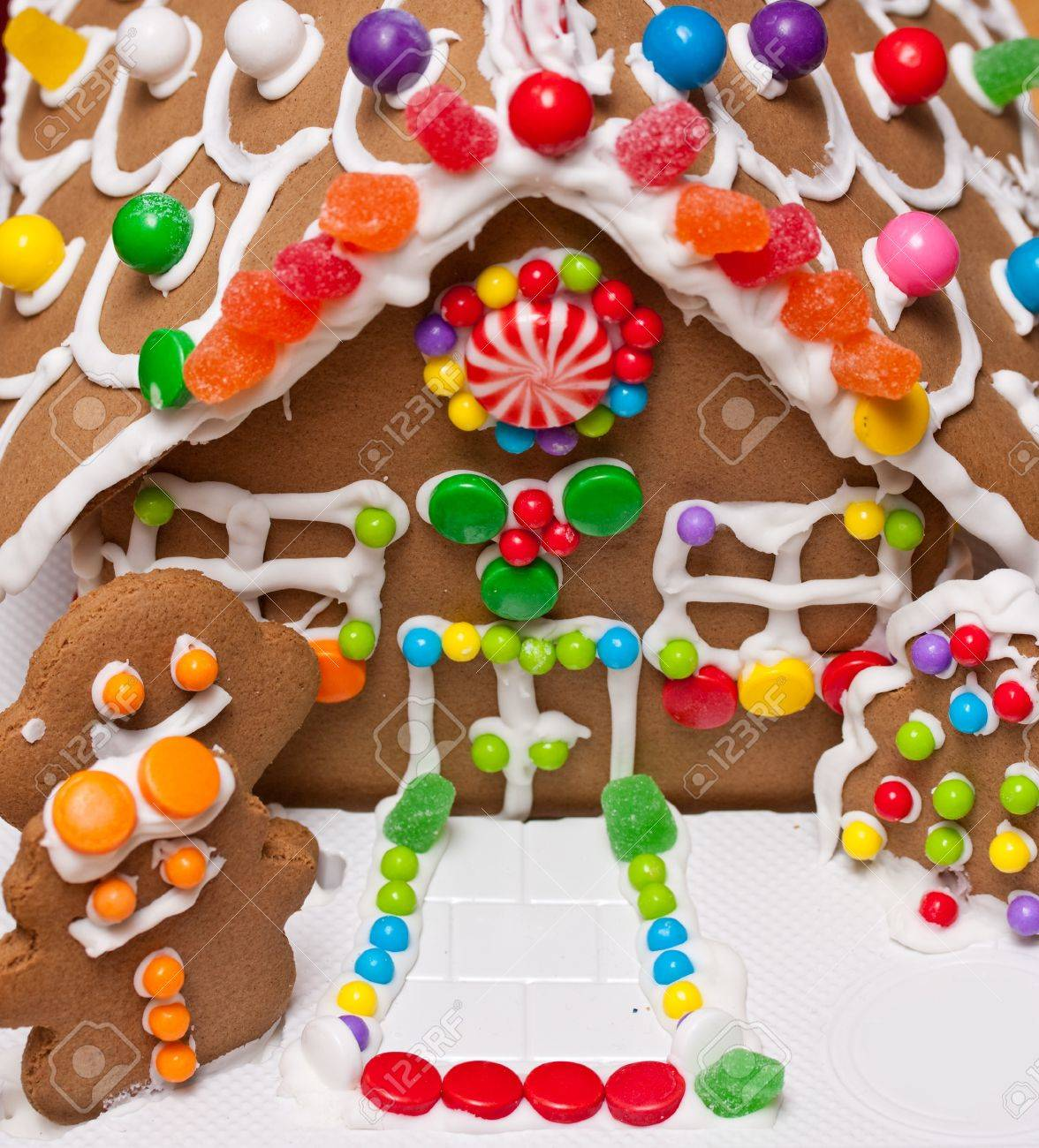Gingerbread house front door Stock Photo - 10654831  sc 1 st  123RF.com & Gingerbread House Front Door Stock Photo Picture And Royalty Free ...
