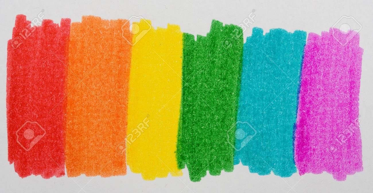 Rainbow made with felt colors Stock Photo - 10658210