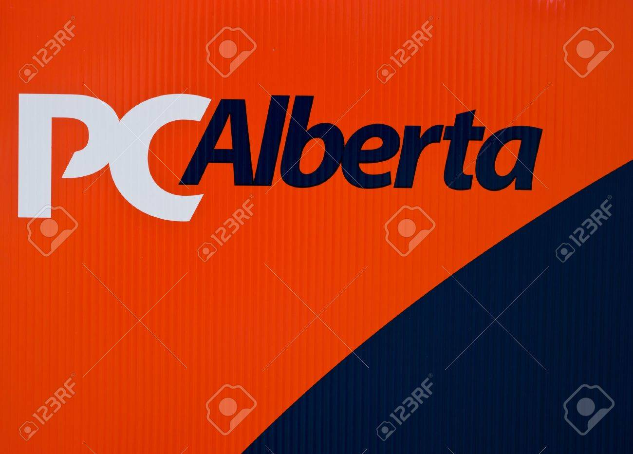 Progressive conservatives Alberta party logo on outdoor sign during election, April 2012 Stock Photo - 13154594