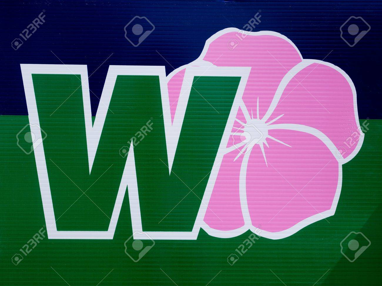 Wild Rose Alberta party logo on outdoor sign during election, April 2012 Stock Photo - 13154600