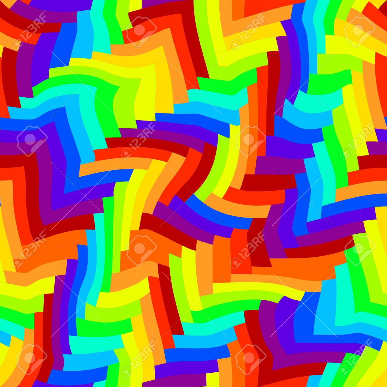 Seamless Pattern Abstract Rainbow Pattern Of Geometric Swirling Stock Photo Picture And Royalty Free Image Image 141648213