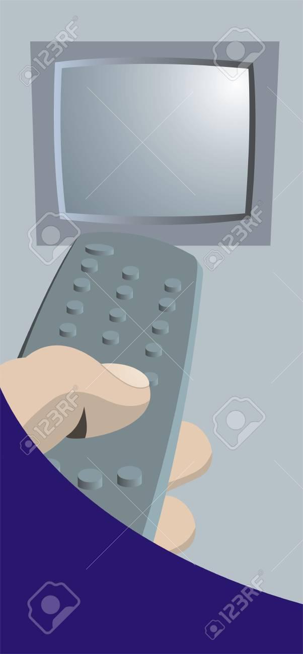 Ein Beispiel Für Ein In Der Hand Die Eine Remote Kontrolle Die Auf