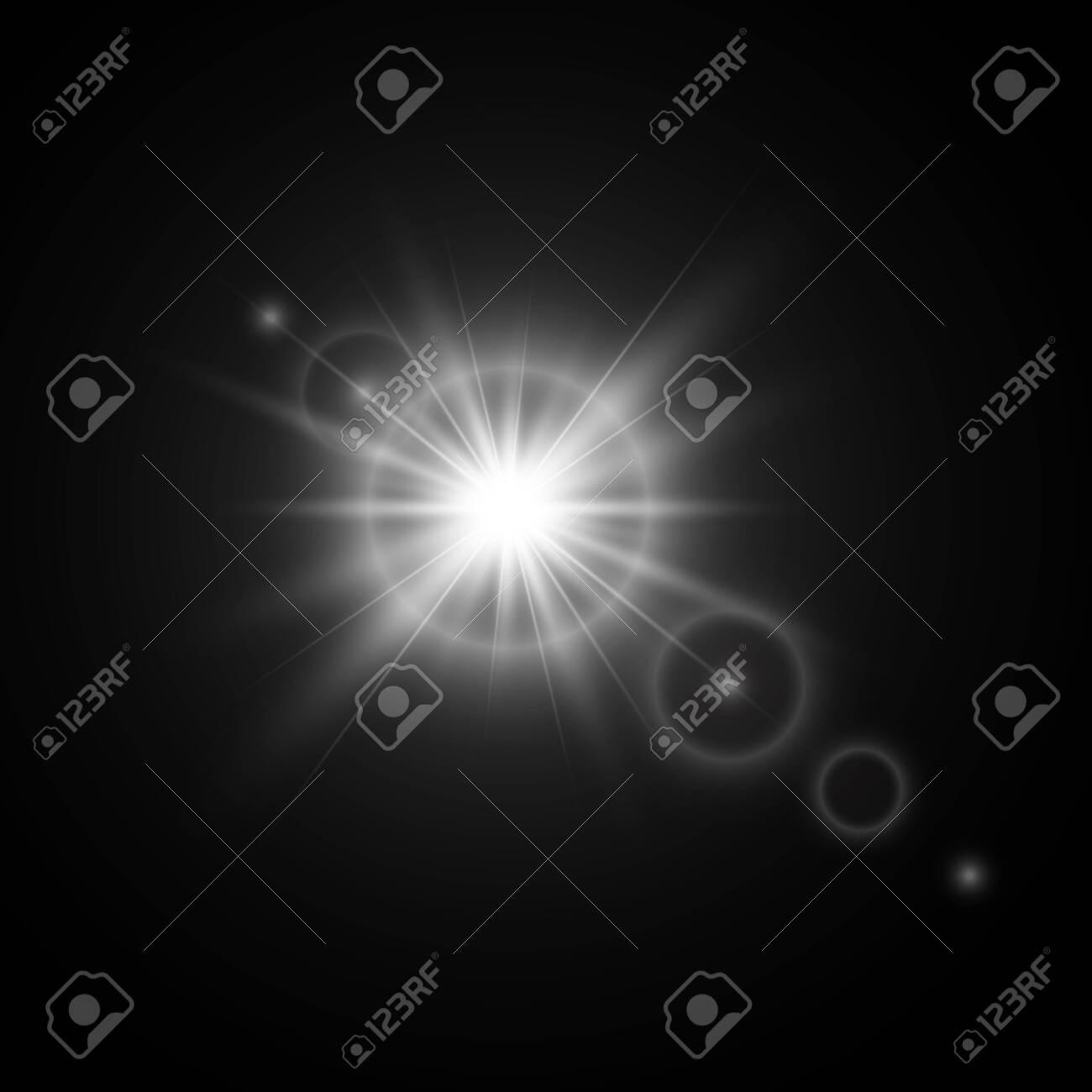 Light effects. White glowing light burst explosion. - 148909944