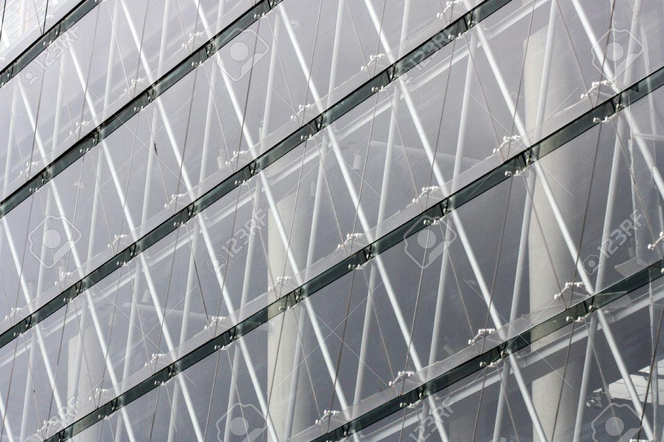 Acero Y Edificio De Cristal Estructura De La Arquitectura ...