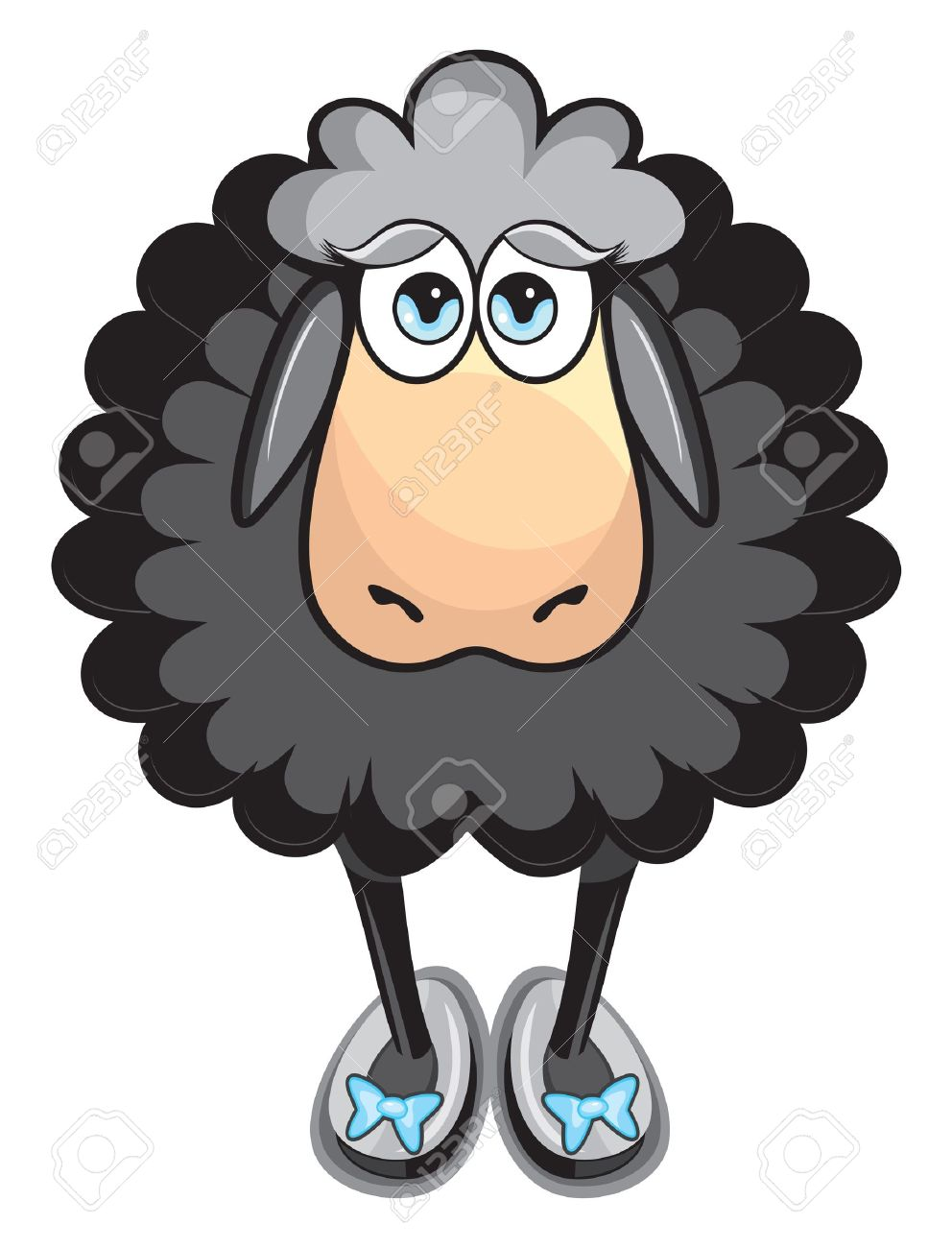 Cute black sheep Stock Vector - 15665904