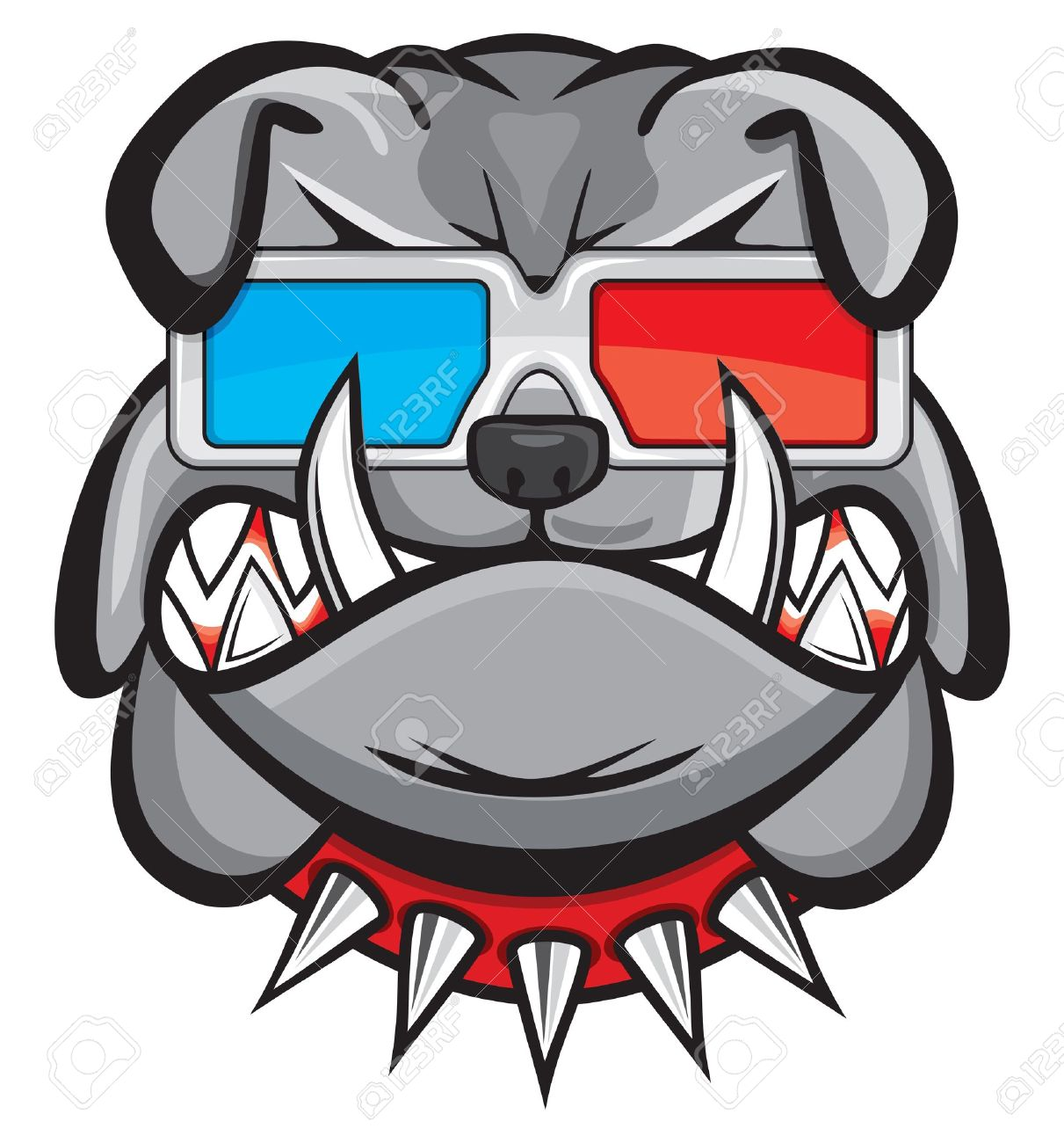 Dog with 3d glasses Stock Vector - 15715716