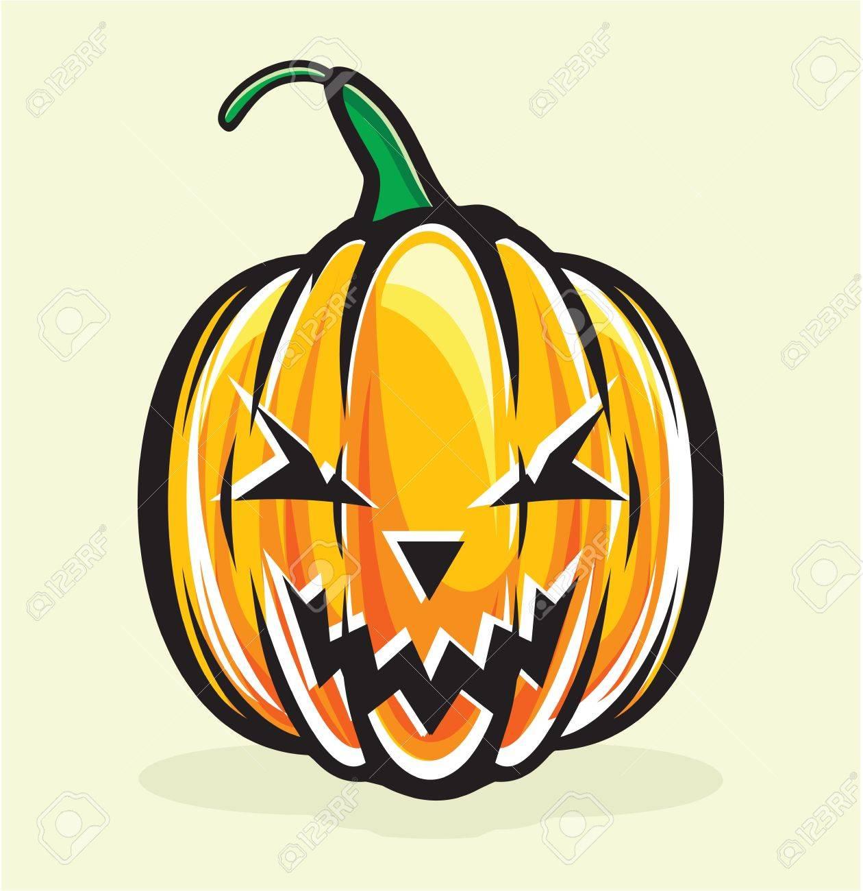 halloween pumpkin jack lantern Stock Vector - 15770216