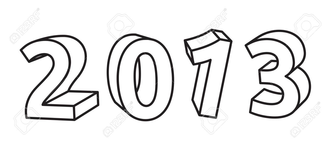 2013 year sign Stock Vector - 15971418