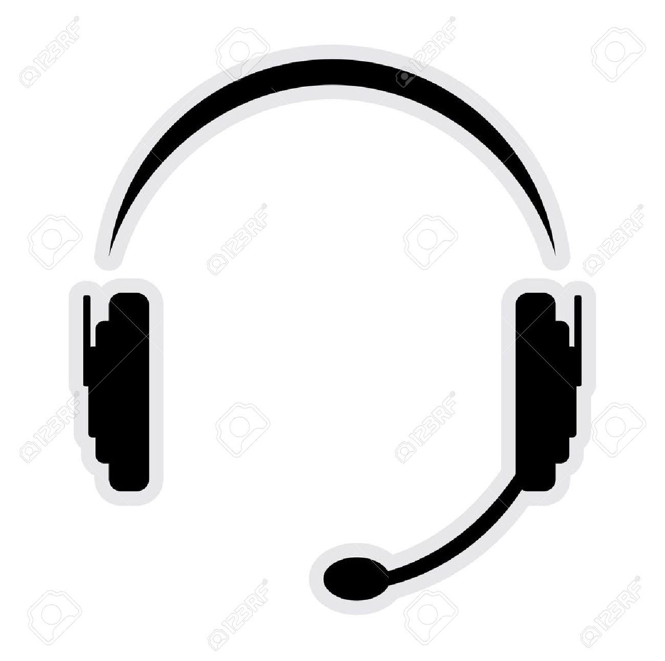 call center headset Stock Vector - 15971407