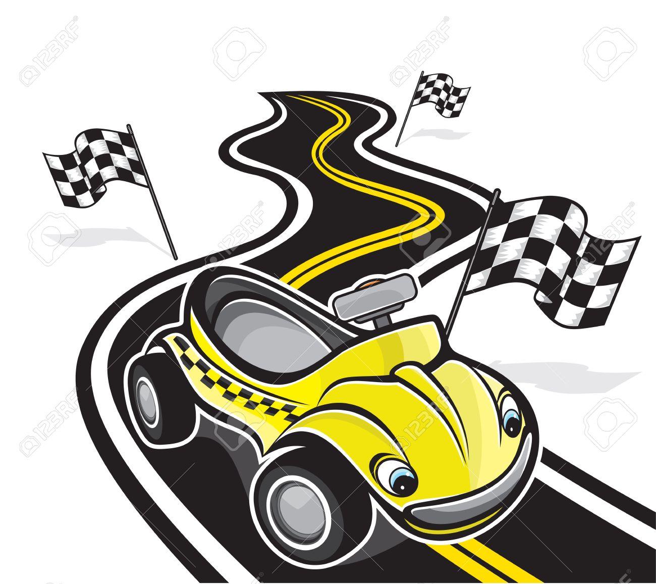 cute race car Stock Vector - 17988787