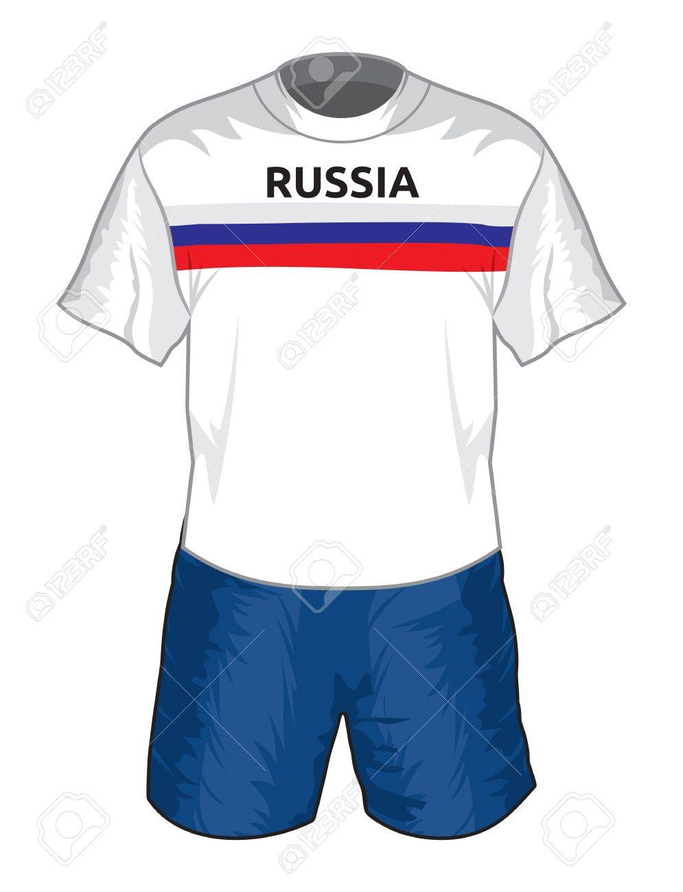 a8abce0eb Russia football uniform Stock Vector - 17988536