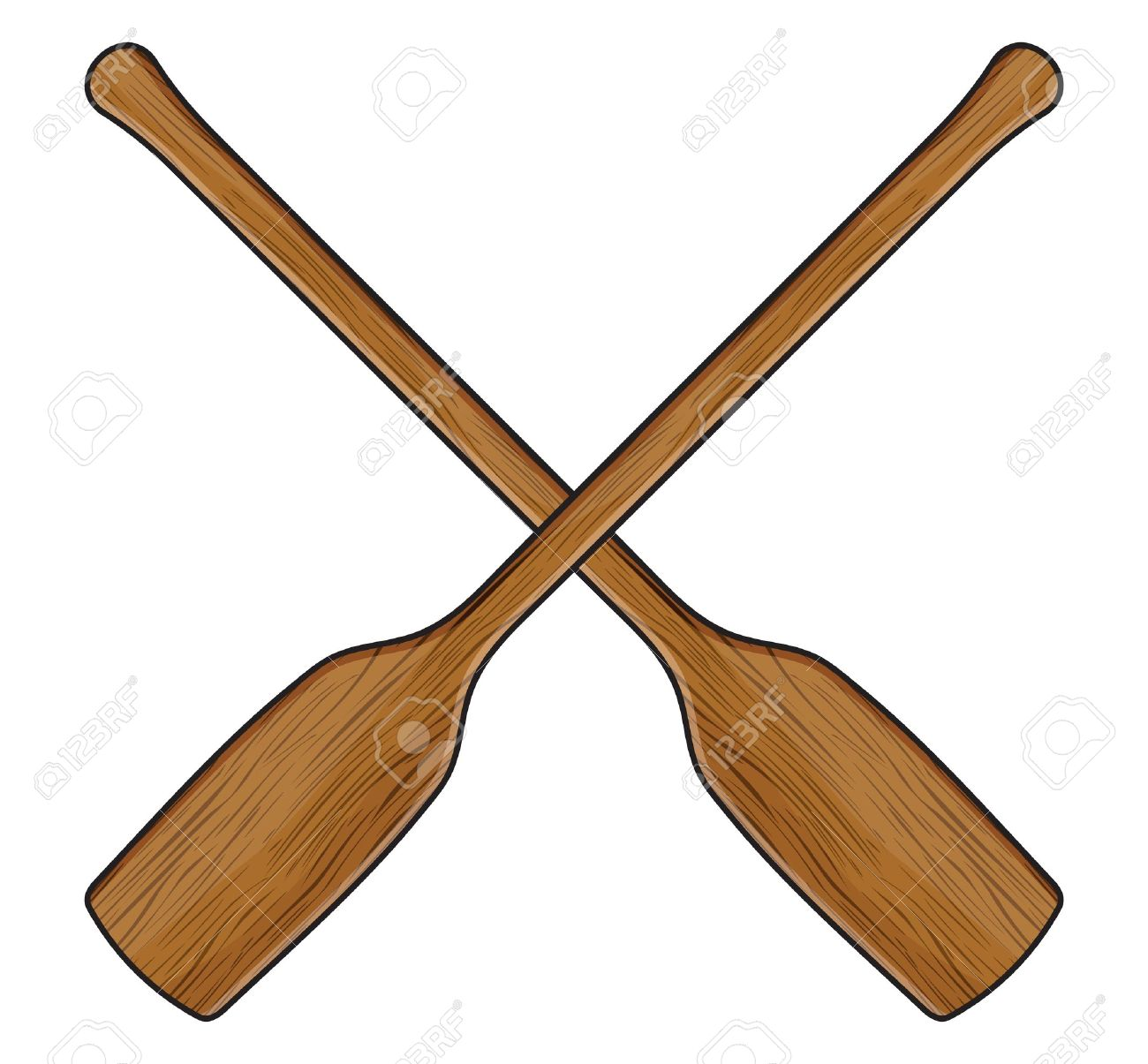 Wooden Canoe Paddle Royalty Free Cliparts Vectors And Stock