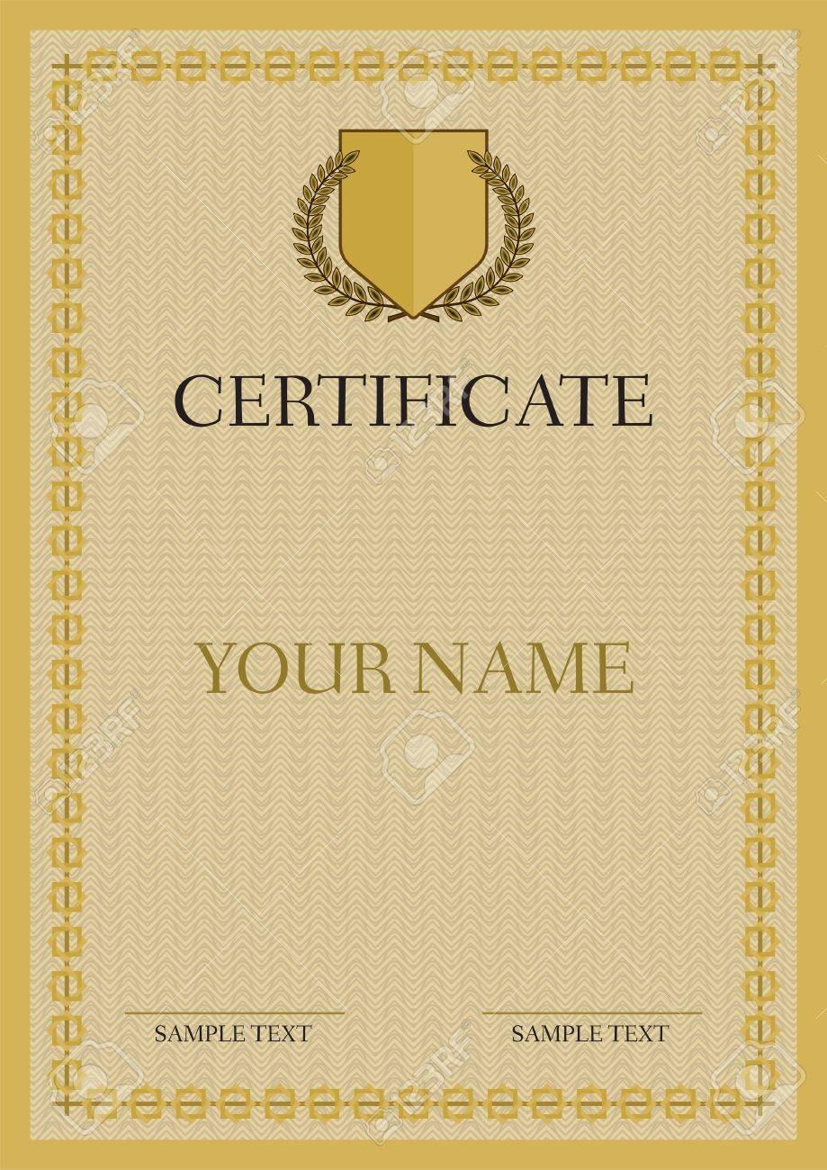 Certificate - Diploma Stock Vector - 18092538