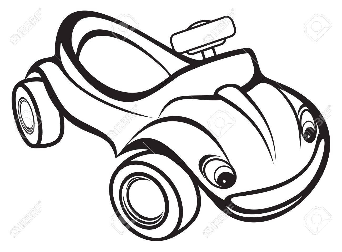 cute kids race car black and white royalty free cliparts vectors rh 123rf com