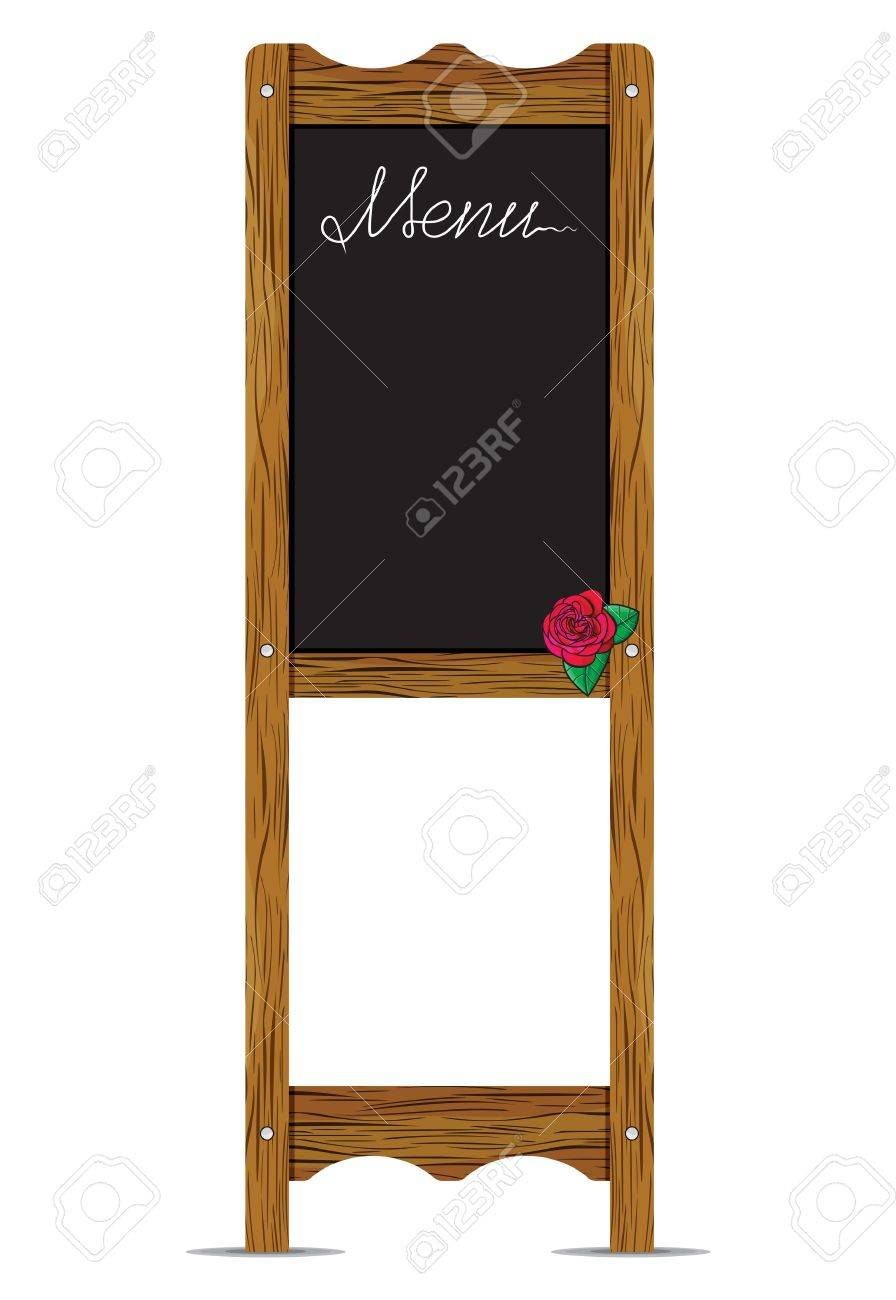 Menu board outside a restaurant or cafe Stock Vector - 18067025