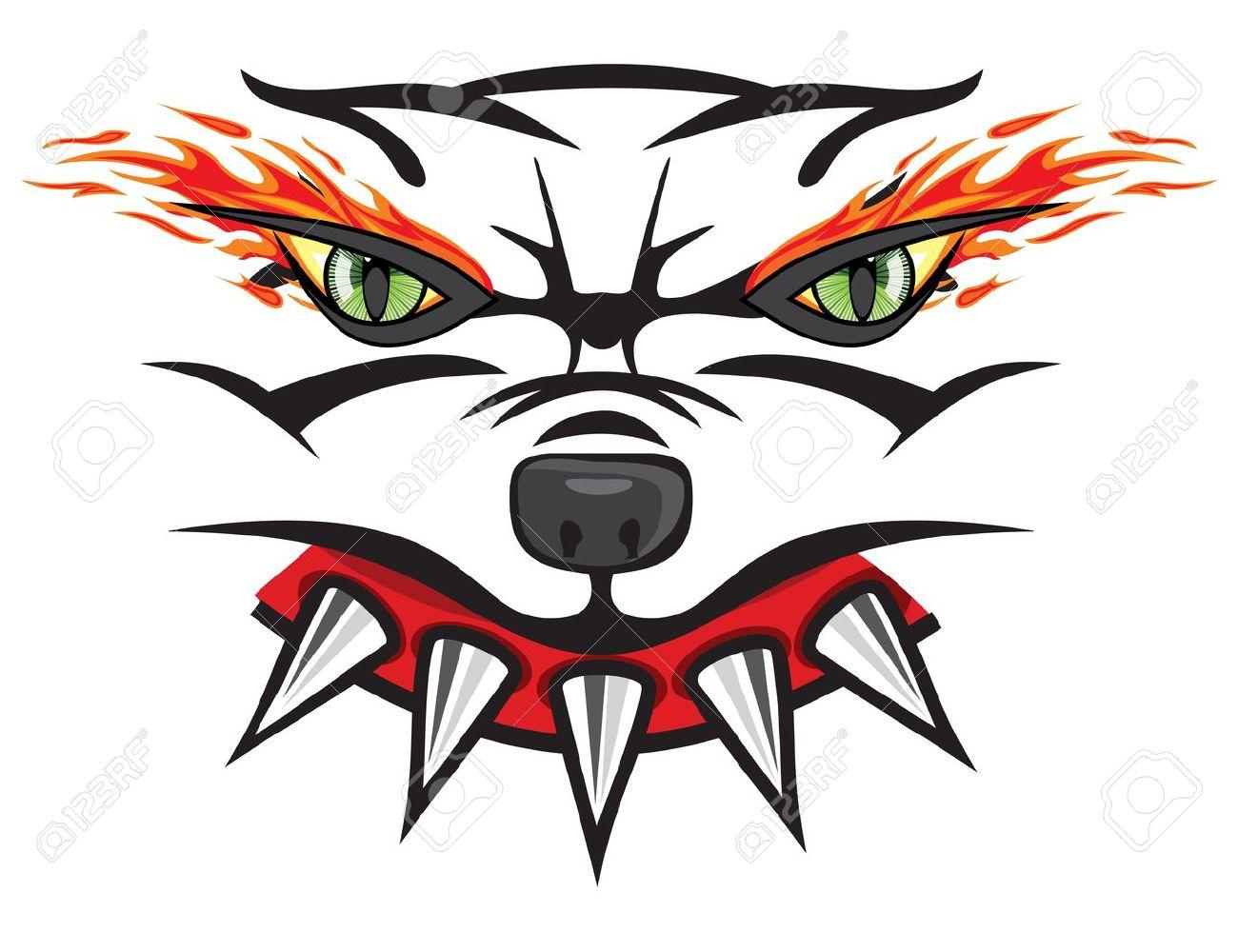 Angry bulldog head Stock Vector - 18067028