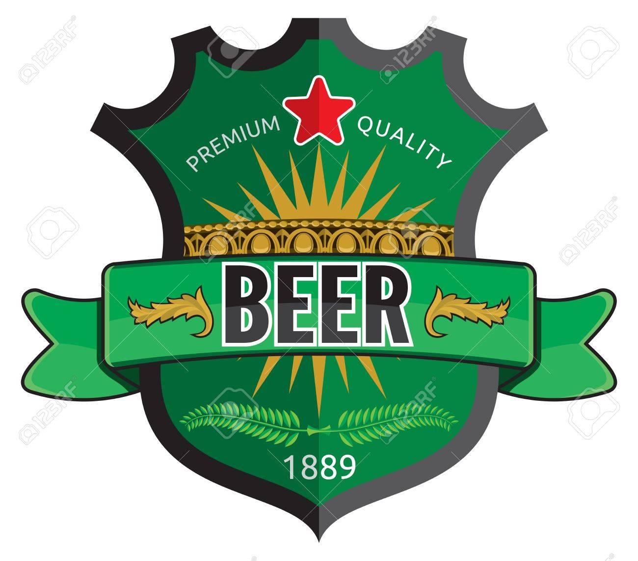 Beer label design Stock Vector - 18067069