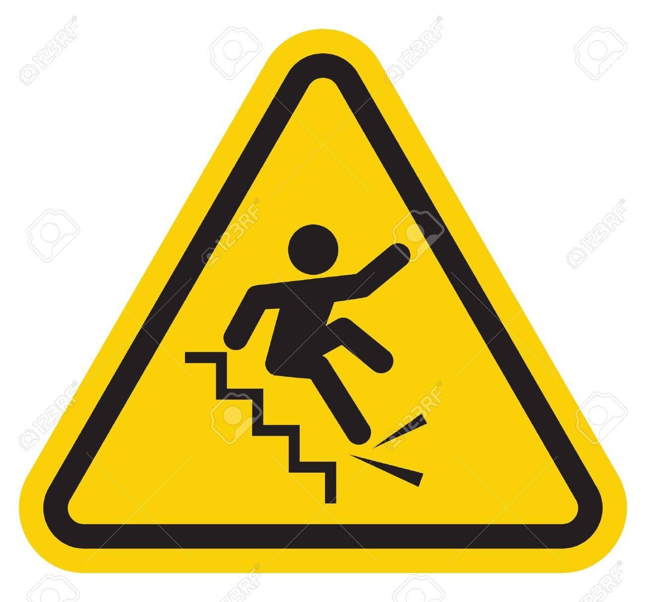 Supérieur Tomber Par Terre #6: Tomber Par Terre: Avertissement Tomber Le Signe Escaliers