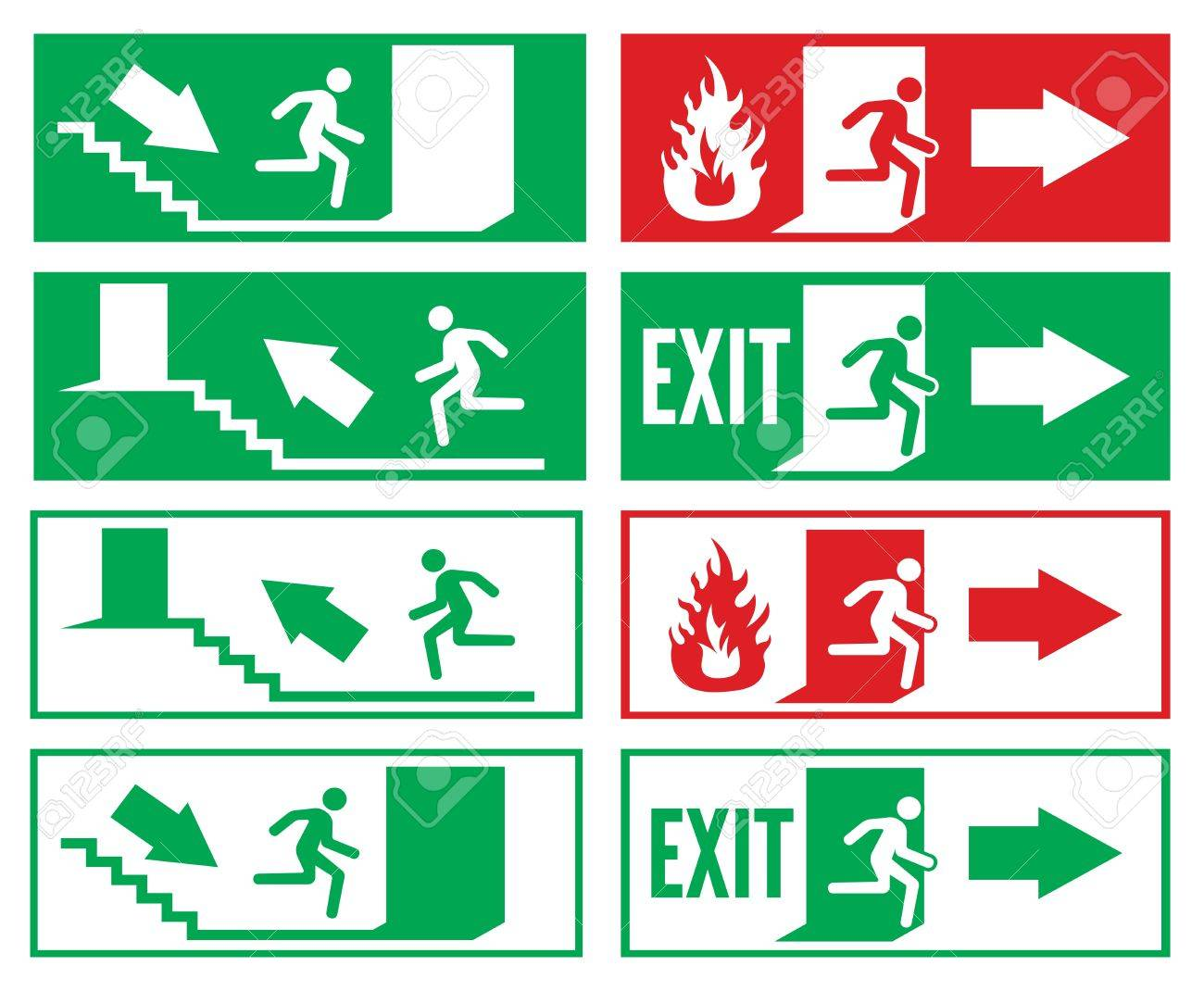 emergency exit sign Stock Vector - 18099185