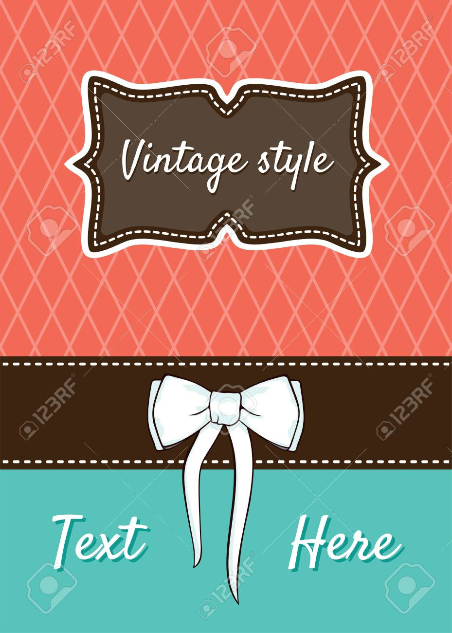 Retro greeting card template design Stock Vector - 18245609