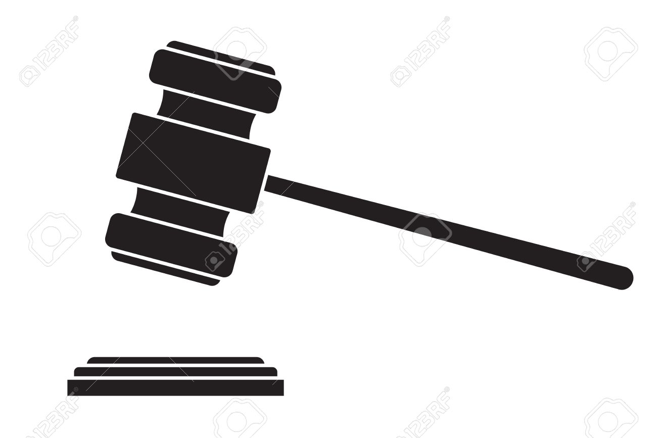gavel hammer of judge or auctioneer royalty free cliparts vectors rh 123rf com auction gavel vector auction gavel vector