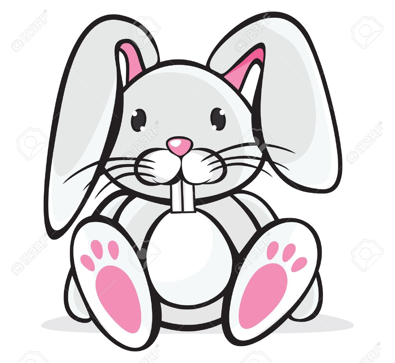 cute rabbit royalty free cliparts vectors and stock illustration rh 123rf com cute bunny clipart images cute bunny clipart black and white